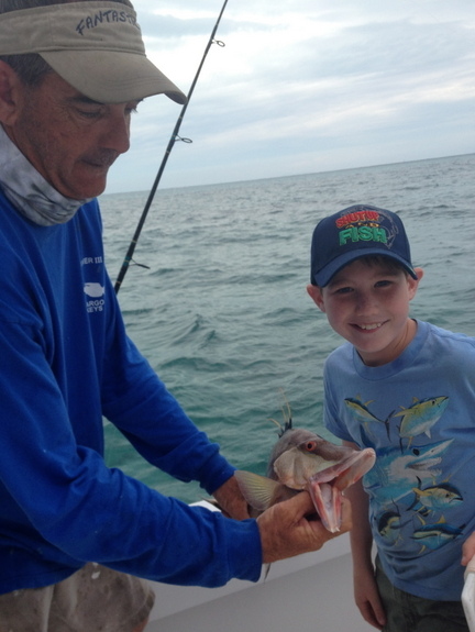 Boys blog 1 our keys fishing trip alligator hall for Best florida fish to eat